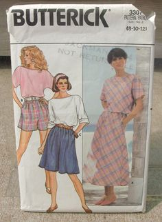 1985 Uncut  Butterick Pattern 3307 Misses by lovelylovepatterns, $2.50