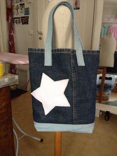 Reusable Tote Bags, Jeans, Fashion, Bags, Moda, Fashion Styles, Fashion Illustrations, Denim, Denim Pants
