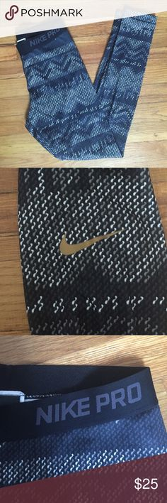 NWOT Nike Pro leggings Got as a Christmas gift and I just never wore them! Tags are taken off. Size M dri-fit material with elastic waistband! Feel free to make offers! Nike Pants Leggings