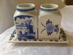 Delft Blauw Dutch 3 Piece Condiment Set by VintageDishCupboard, $9.95