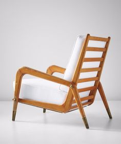 Gio Ponti; Walnut and Brass Lounge Chair for Casa e Giardino, c1937.