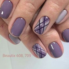 Nail art Christmas - the festive spirit on the nails. Over 70 creative ideas and tutorials - My Nails Fabulous Nails, Gorgeous Nails, Perfect Nails, Ongles Gel Violet, Trendy Nail Art, Latest Nail Art, Gel Nail Designs, Nails Design, Purple Nails With Design