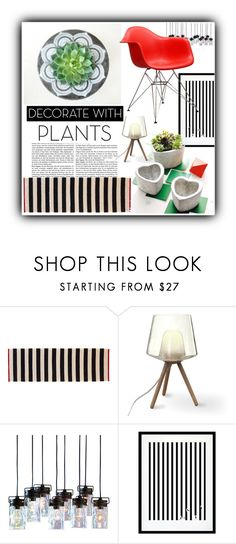 """""""#1323@"""" by elena-gienko ❤ liked on Polyvore featuring interior, interiors, interior design, home, home decor, interior decorating, Eleanor Stuart, Modway, plants and planters"""