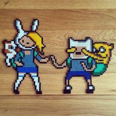 Adventure Time hama beads by @melanieb1989 ,
