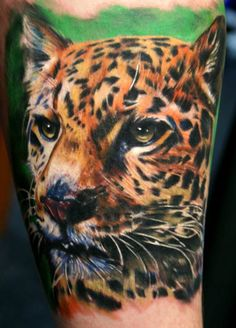 Animal Tattoo by Ron Russo. #inked #inkedmag #tattoo #animal #color #beautiful #amazing