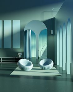 Exploring the intersection of surrealism and architecture visualisation. Futuristic Home, Futuristic Architecture, Architecture Design, Rendering Art, Modelos 3d, Architecture Visualization, Interior Decorating, Interior Design, Minimalist Interior