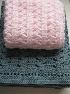 Easy Crochet Blanket - Interlocking Shell Stitch Blanket - PDF Includes Instructions to make it any size!
