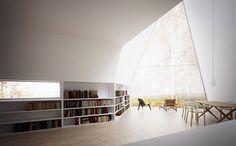 """Allandal House  Dans le cadre de ses recherches sur l'univers du triangle et de sa relation à l'habitation, l'architecte William O'Brien Jr, professeur d'architecture au MIT, conçois cette surprenante architecture minimaliste appelée """"Allandale House""""."""