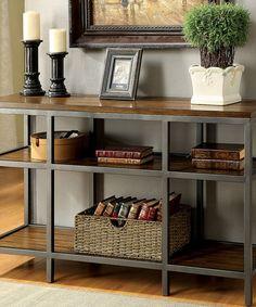 This Dark Oak Milliken Console Table is perfect! #zulilyfinds