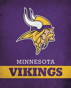 NFL - Minnesota Vikings Logo $24.99 Portray your love for the Minnesota Vikings with this 16x20 Printed Canvas Logo from ScoreArt. This awesome print is optimal for the fanatic in your life.  #NFL #Football #Sports #Minnesota #Vikings #MinnesotaVikings #ScoreArt