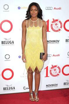 London Critics' Circle Film Awards, London - February 1 2014  Naomie Harris wore a Naeem Khan pre-autumn/winter 2014 dress with Christian Louboutin heels and jewellery by Jessica McCormack and Boucheron.