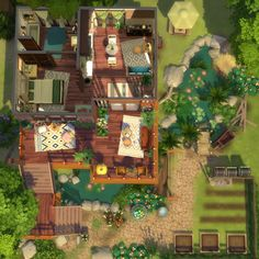 Sims House Plans, Casas The Sims 4, Sims 4 Characters, Sims 4 Build, Sims 4 Houses, Plein Air, Building Design, Home Buying, Beautiful Homes