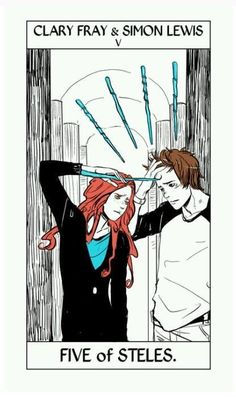 Clary y simon Five of steles