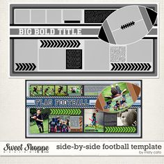 Side by Side Football Template by Misty Cato