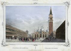 Venezia, Piazza di S. Marco (National Library of Poland - 1847, lithography)
