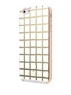 Incipio Kate Spade Gold/Cream Paintery Check Hybrid Hardshell Case - iPhone 6 Plus