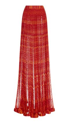 Missoni Two Toned Pleated Maxi Skirt