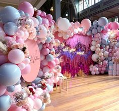 Our gorg balloon display at the bridal expo, collabarating with Featuring our new tassle wall and hangings and artificial florals Balloon Display, Balloon Backdrop, Balloon Wall, Balloon Garland, Balloon Decorations, Birthday Party Decorations, Party Themes, 18th Birthday Party, Diy Birthday