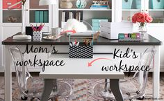 Shared Home Office Space - Kids Allowed
