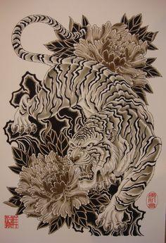 Japanese tattoo tiger