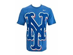 Nike New York Mets Big Logo Tri-Blend T-Shirt, Heather Bl.