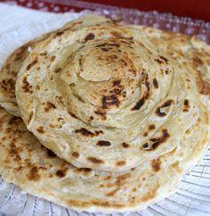 Porotta (pão indiano vegano)