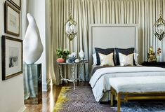 Furniture:Stylish Decadent Bedroom With Silver And Gold Details With Luxury Stylih Design Ideas Perfect Glamour House Design Creating Contemporary Interior Style