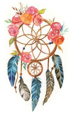 Big Pastel Watercolor American Indian Dream Catcher Iron On Transfer Sticker DIY Patch - Colorful Dream Catcher Shirt Thermal Transfer Patch Dream Catcher Canvas, Dream Catcher Painting, Dream Catcher Drawing, Dream Catcher Tattoo Design, Drawings Of Dream Catchers, Dream Catcher Watercolor, Dreamcatcher Wallpaper, Watercolor Dreamcatcher, Pastel Watercolor
