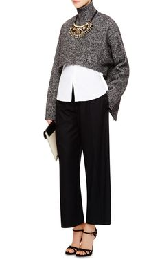 Cropped Wool-Blend Turtleneck Top by Marni - Moda Operandi