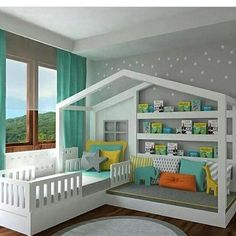 Kids Bed House Design Kids Bedroom Ideas Designs In 2019 Toddler House Bed 20 Amazing Kids Bedroom Design Ideas 7 Awesome Diy Kids Bed Plans Bunk Beds Loft Beds The Kid S House Girls Bedroom, Bedroom Decor, Bedroom Furniture, Furniture Ideas, Design Bedroom, Bedroom Bed, Furniture Design, Bedroom Colors, Master Bedroom