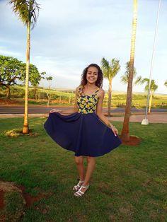 Alana Santos Blogger: Costura e modelagem saia rodada godê Alana Santos Blogger
