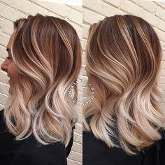 balayage color blonde modernsalon on Instagram