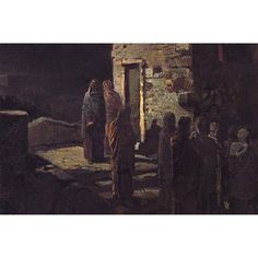 Buyenlarge 'Christ on His Way to The Garden of Gesthemenes' by Nikolai Ge Painting Print Size:
