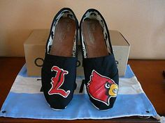 Louisville Cardinals handpainted TOMS by SolesoftheSouth on Etsy, $95.00. Just ordered for my daugther and they were ADORABLE!!!  LOVE them!  SO unique- shop owner caters to most requests!!!