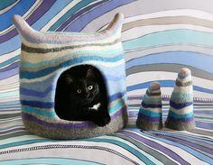 Vrouw maakt van vilt sprookjesachtige kattenhuizen, bekijk deze 12 schitterende voorbeelden! - Zelfmaak ideetjes