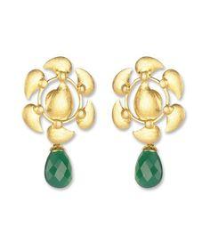 http://silvercentrre.com - Designer Gold Plated Silver Earring.