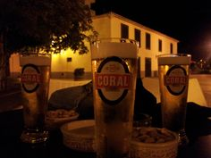 three #happy #friends with #beer #cervejacoral #beercoral #cerveja #cerveza  #bière #bier #coral #momentoscoral  #madeira #momentoscoral