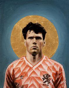 MvB - Football Icon Art Print by daviddiehlfootballart God Of Football, Football Icon, Best Football Players, Retro Football, Football Art, Soccer Art, Soccer Guys, David Diehl, Marco Van Basten