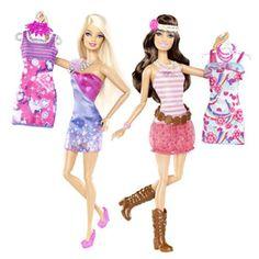 Papusilor Barbie ® si Teresa ® le place sa iasa in oras! Barbie Fashionistas garderoba vine cu moda proprie si accesorii care permit fetelor sa se asorteze, creand o tinuta perfecta pentru o noapte cu fetele.