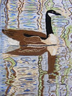 Embroidered Canadian goose Dufferin Marsh