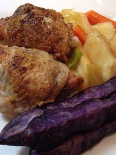 Chicken Thighs and Vegetables I like one pot cooking. It makes the worst of cooking, the clean up, easier! When I find ways to keep it to one pot I am really pleased, especially when the dish is very tasty. … Continue reading →