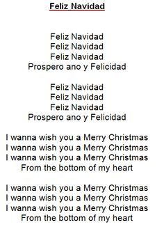 Gevonden Op Pinterest Com Via Google Christmas Carols Lyrics Feliz Navidad Carol Lyrics
