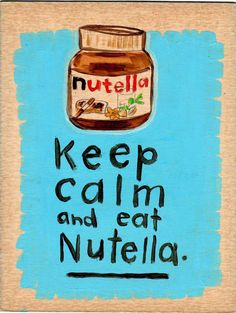 Just a little bit of Nutella could save an otherwise disastrous day :)