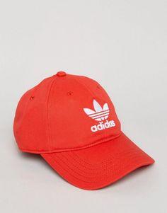 3631e70622a adidas Orignals Trefoil Cap In Red CF6326 - Red Adidas Originals