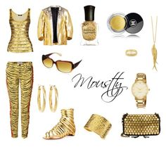 """""""golden #11"""" by moustty ❤ liked on Polyvore featuring Frame, Current/Elliott, Christian Louboutin, Jérôme Dreyfuss, Naturalizer, Brooks Brothers, Kate Spade, Nest, Dinny Hall and Carolina Bucci"""
