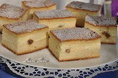 Aceasta prajitura turnata cu branza este-o minunatie de prajitura!!! Si e absolut delicioasa si in varianta cu mere sau dovleac. Tava folosita de mine a fostuna de aproximativ 30 cm. lungime/20 cm. latime, dar a iesit parca un pic prea subtirica…asa ca, daca aveti vreo forma mai micuta, folositi-o cu incredere!!! De fapt, la … No Cook Desserts, Sweets Recipes, Healthy Desserts, Cake Recipes, Cooking Recipes, Romanian Desserts, Romanian Food, Hungarian Recipes, Food Cakes
