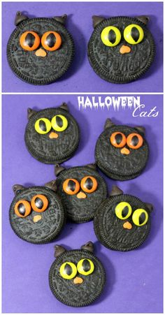 Halloween Black Cat Oreos Recipe for an easy Halloween Party Treat or Snack for Kids!