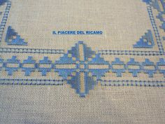 This Pin was discovered by Joa Hardanger Embroidery, Cross Stitch Embroidery, Embroidery Patterns, Hand Embroidery, Bargello Needlepoint, Drawn Thread, Simple Cross Stitch, Border Pattern, Blackwork