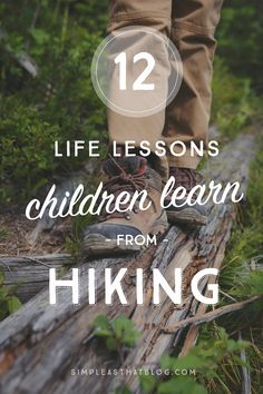 Because few things have such direct applications to life—12 life lessons children learn from hiking.