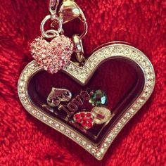 Origami owl heart locket valentines day